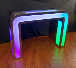 Illuminated DJ Booth